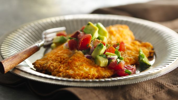 Sassy Fish Bake with Tomato-Bacon-Avocado Salsa