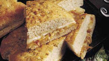 Caramelized-Onion Focaccia Wedges