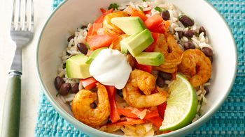 Chili-Lime Shrimp Burrito Bowls