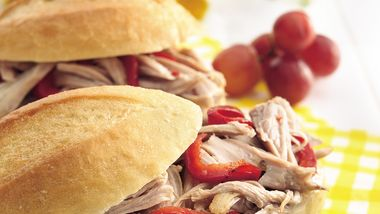 Slow-Cooker Italian Turkey Sandwiches