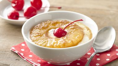 Pineapple Upside-Down Yogurt Cup