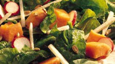Papaya-Spinach Salad