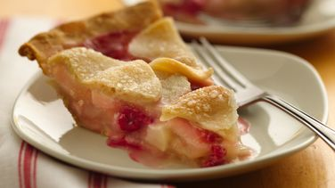 Rosy Raspberry-Pear Pie