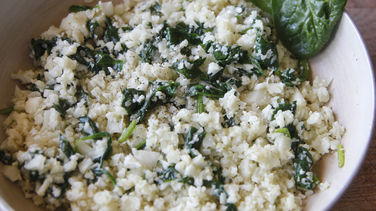 Cauliflower Rice with Spinach