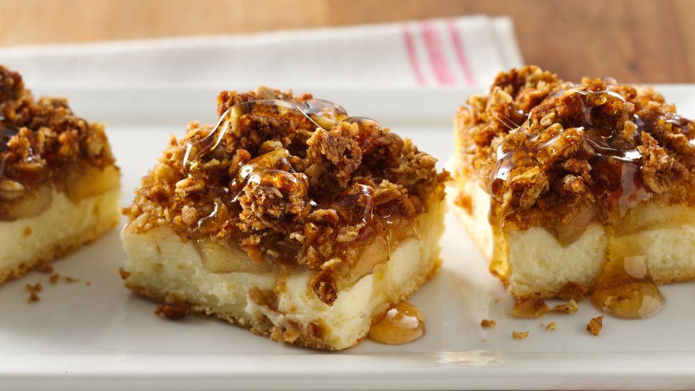 Maple Apple Cheesecake Bars