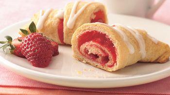 Strawberry Breakfast Crescents