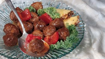 Apricot Sweet and Sour Meatballs