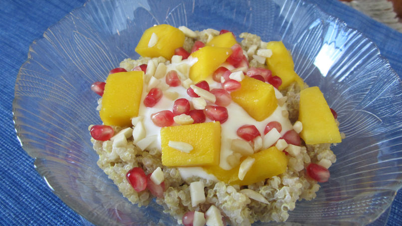 Tropical Quinoa and Fruit Breakfast Pudding
