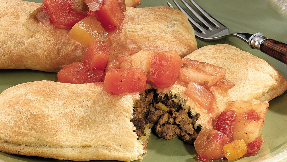 Spicy Jamaican Meat Pies with Island Salsa