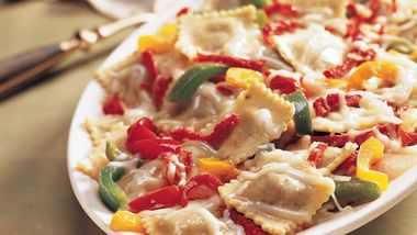 Ravioli with Peppers and Sun-Dried Tomatoes
