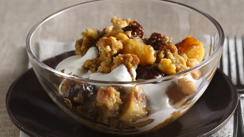 Ginger-Cherry-Pear Crisp with Oatmeal Topping