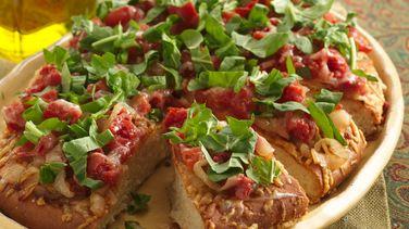 Focaccia de Cebolla y Tomate Caramelizados