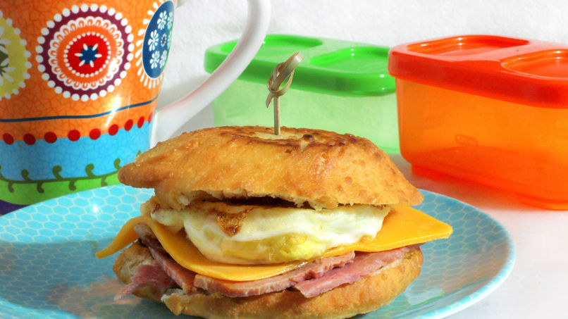 Arepas Stuffed with Ham, Cheese and Eggs