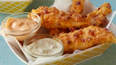 Bacon Cheddar Chicken Fingers