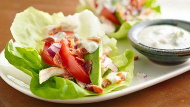 Cobb Salad Lettuce Wraps