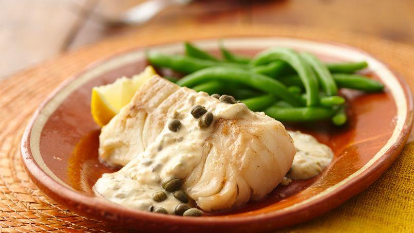 Cod  in Caper Sauce