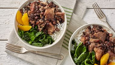 Slow-Cooker Braised Beef, Pork and Black Beans