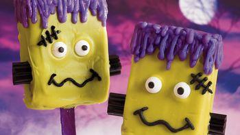 Frankenstein Brownie Pops