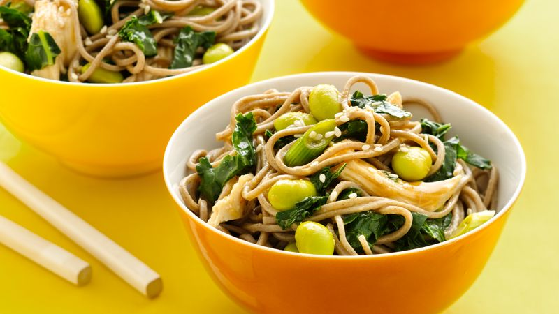 Gluten-Free Asian Kale and Noodle Salad