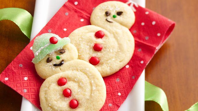 Spiral Snowman Cookies