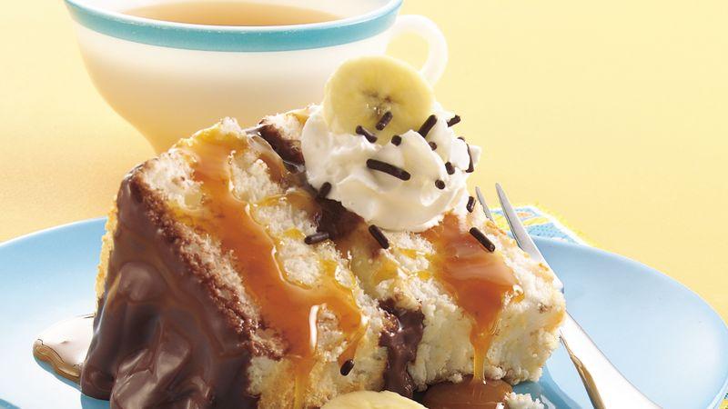 Banana-Chocolate-Caramel Cake