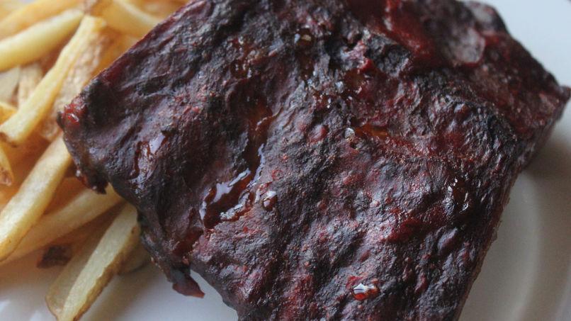 Costillas con Salsa BBQ en Olla de Cocción Lenta