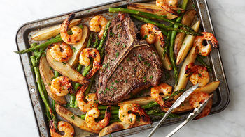 Sheet-Pan Surf and Turf