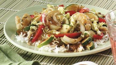 Chile and Basil Vegetable Stir-fry