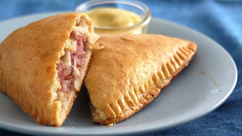 Ham and Cheese Foldover Sandwiches