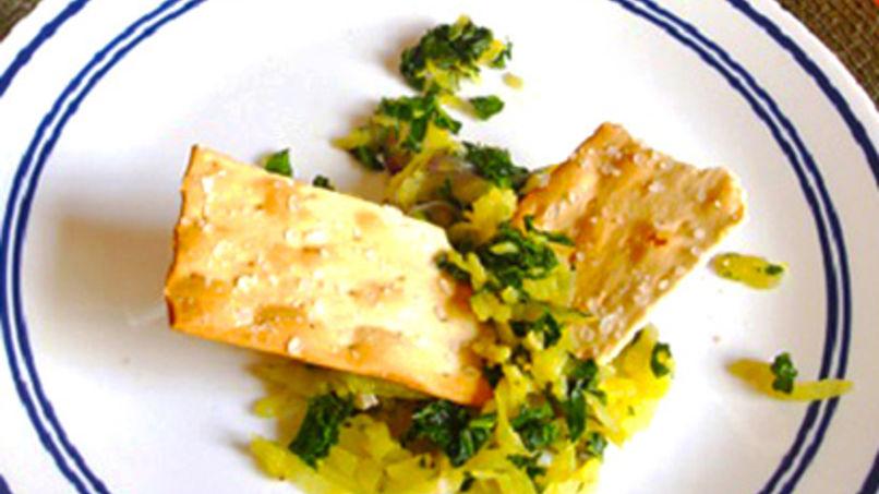 Sauted Potato and Kale Salad