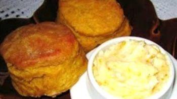 Pumpkin Angel Biscuits With Orange Honey Butter