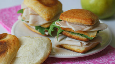 Turkey and Pear Biscuit Sandwiches