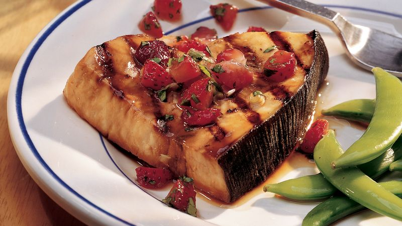 Swordfish with Strawberry Salsa