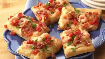 Shrimp and Pancetta Pizza