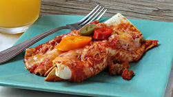 Turkey Enchiladas with Salsa Roja