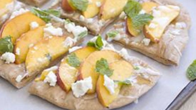 Grilled Peach Pizza