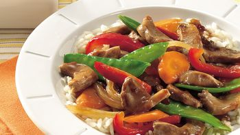 Sweet Plum-Pork Stir-Fry
