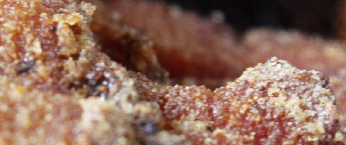 Spicy Cornmeal-Crusted Bacon recipe from Betty Crocker