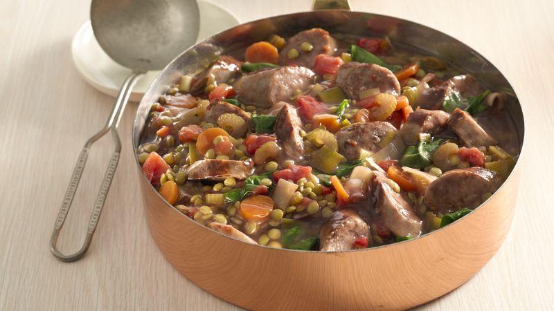 Lentil and Bratwurst Stew