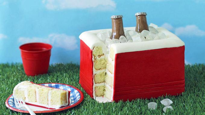 Tailgating Cooler Cake
