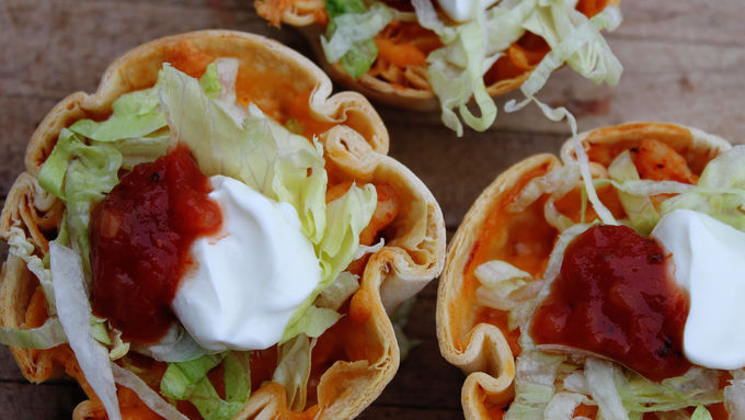 Muffin Tin Chicken Tacos