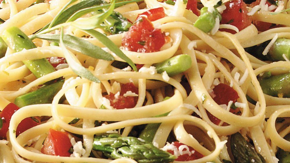 Linguine with Tarragon Vegetables