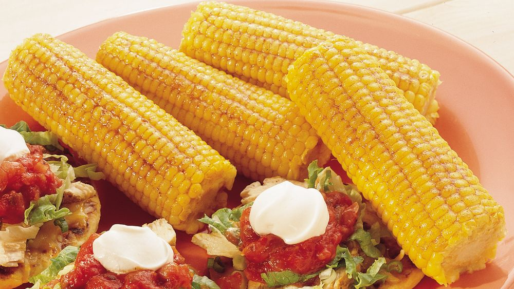 Grilled Corn-On-The-Cob with Spicy Butter
