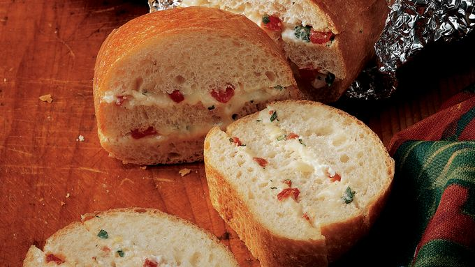 Cheesy Roasted Red Pepper Bread