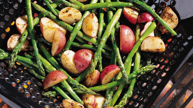 Grilled Asparagus and New Potatoes