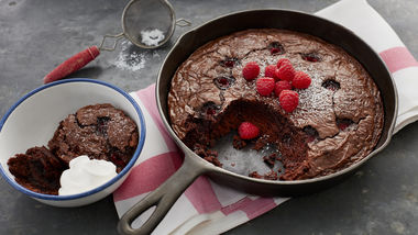 Raspberry Skillet Brownie