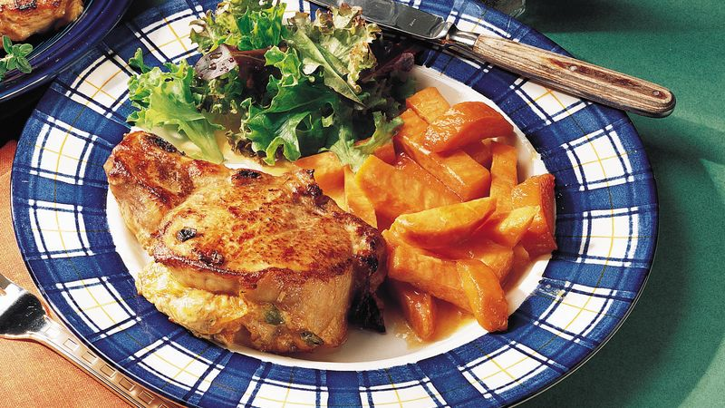 Cheesy Vegetable-Stuffed Pork Chops