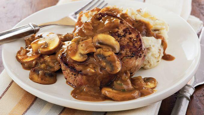 Steaks with Mushroom Gravy