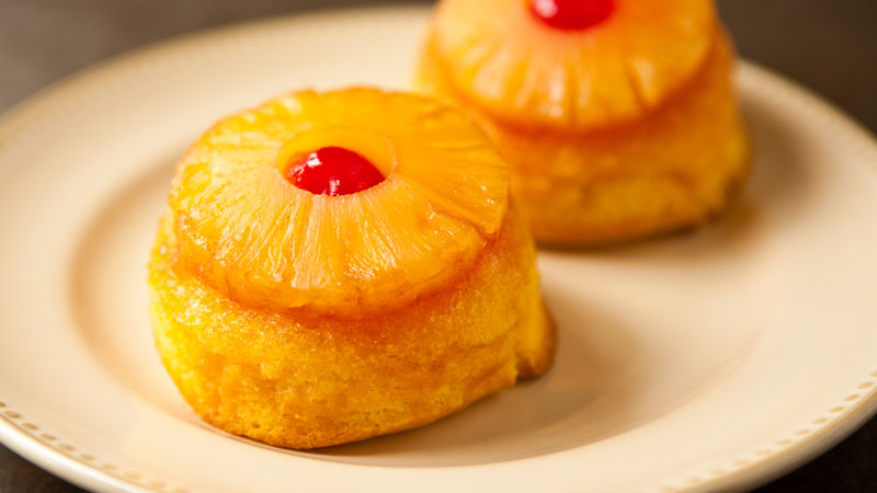 Pineapple Upside Down Mini Cakes Recipe From Betty Crocker