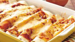 Enchiladas de pavo y espinacas